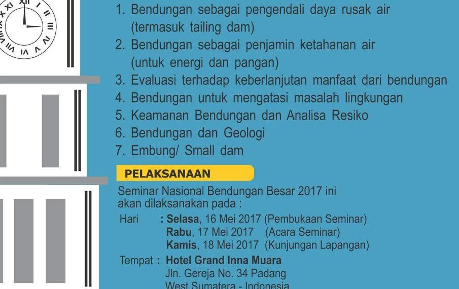 seminar bendungan nasional 2017